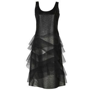 MARC JACOBS Metallic Organza Cocktail Dress